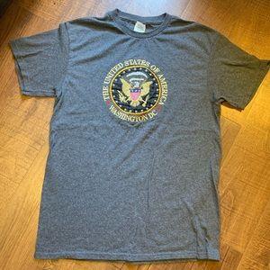 Embroidered Washington DC USA T Shirt